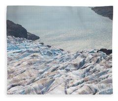 Glacier Meets The Sea Fleece Blanket