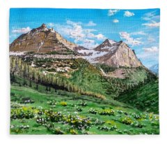 Glacier Summer Fleece Blanket