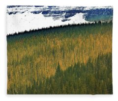 Glacier Tree-tops Fleece Blanket