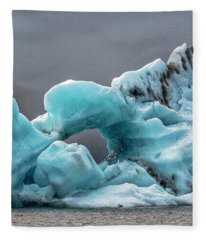 Glacier With Hole Fleece Blanket