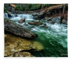Glade Creek And Grist Mill Fleece Blanket