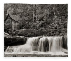 Glade Creek Grist Mill Monochrome Fleece Blanket