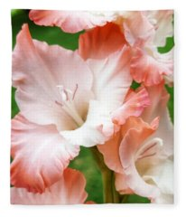 Gladiolus Ruffles  Fleece Blanket