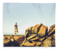 Glamour In Untouched Paradise Fleece Blanket