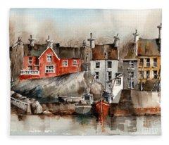 Glandore Harbour, Cork... X111 Fleece Blanket