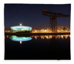 Glasgow Clyde Panorama Fleece Blanket