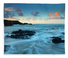 Glass Beach Dawn Fleece Blanket