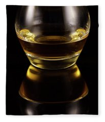 Glass Of Whiskey Fleece Blanket