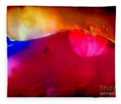 Glass Paint Abstract Dark Fleece Blanket