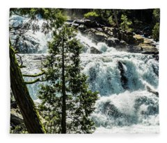 Glen Alpine Falls 1 Fleece Blanket