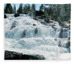 Glen Alpine Falls Mist Fleece Blanket