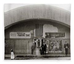 Glen Lyon Pa. Family Theatre Early 1900s Fleece Blanket