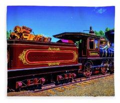 Glenbrook Ginerbread Train Fleece Blanket