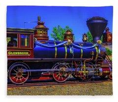 Glenbrook Train Carson City Fleece Blanket