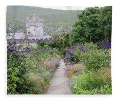 Glenveagh Castle Gardens 4292 Fleece Blanket