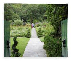 Glenveagh Castle Gardens 4272 Fleece Blanket