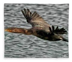 Gliding Cormorant Fleece Blanket