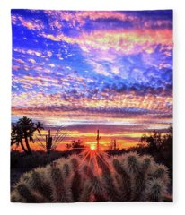 Fleece Blanket featuring the photograph Glimmering Skies by Rick Furmanek