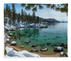 Glistening Cove By Brad Scott Fleece Blanket