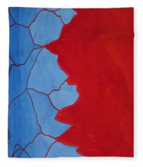 Glitch In The Matrix Original Painting Fleece Blanket