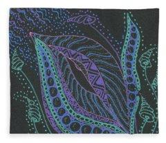 Glitter Flower Fleece Blanket