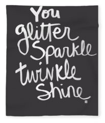 Glitter Sparkle Twinkle Fleece Blanket
