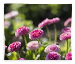 Glittering Daisies Fleece Blanket
