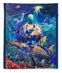 Planet  Earth - Our Family Tree Fleece Blanket