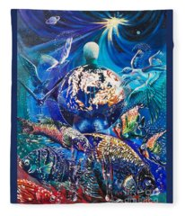 Planet  Earth - Our Family Tree Fleece Blanket