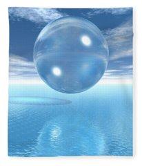 Globe Fleece Blanket