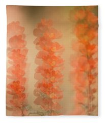 Globe Mallow Impressions Fleece Blanket