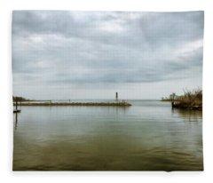 Gloom On The Bay Fleece Blanket