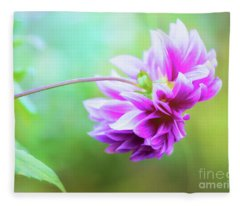 Glorious Autumn Dahlia Fleece Blanket