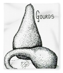 Glorious Gourds Fleece Blanket