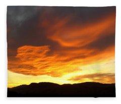 Glorious Kamloops Sunset Fleece Blanket
