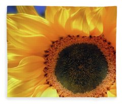Glorious Sunflower Fleece Blanket
