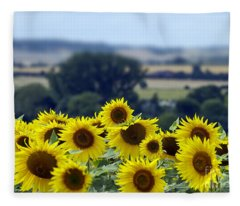 Glorious Sunflowers Fleece Blanket