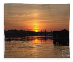 Glory Of The Morning On The Water Fleece Blanket