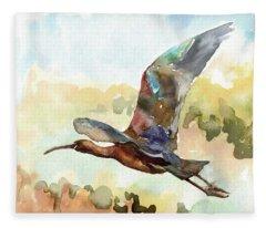 Glossy Ibis Fleece Blanket