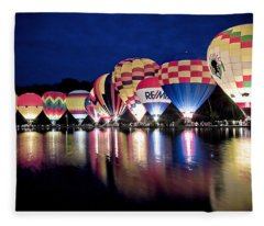 Glowing Balloons Fleece Blanket