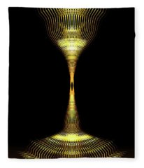 Glowing Brass Lamp Stand Fleece Blanket