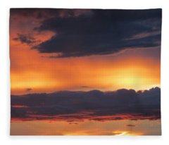 Glowing Clouds Fleece Blanket
