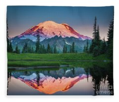 Glowing Peak - August Fleece Blanket