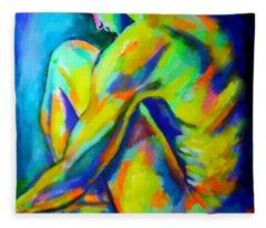 Glowing Silent Figure Fleece Blanket