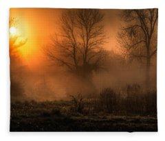Glowing Sunrise Fleece Blanket