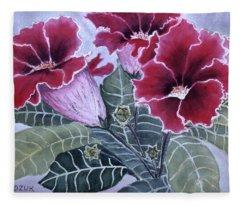 Gloxinias Fleece Blanket