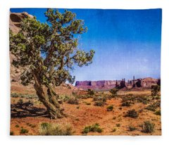 Gnarled Utah Juniper At Monument Vally Fleece Blanket