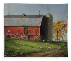 Goat Farm Fleece Blanket