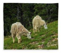 Goat Garden Fleece Blanket