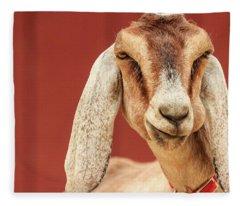 Goat With An Attitude Fleece Blanket